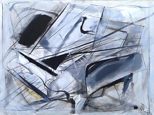 Baltais flīģelis 2004, audekls/eļļa, 97x130