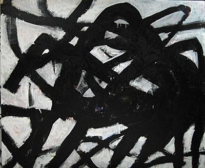 Zirga kods 2005, audekls/eļļa, 200x240