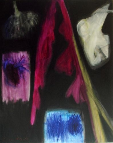 Gladiola, lilija, asteres un citas 2010, audekls/eļļa,145x98