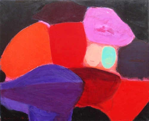 Rozes un sejas 2003, audekls/eļļa, 90x100