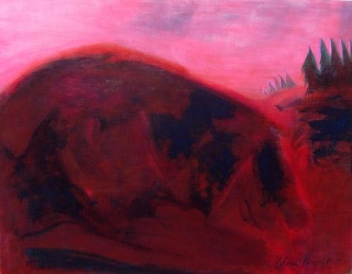 Vīrietis- kalns 2007, audekls/eļļa, 114x145
