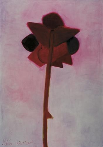 Roze ar kātu II 2007, audekls/eļļa, 210x145