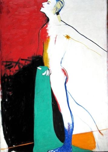 Kazanova (Andra Grīnberga portrets) 1988, audekls/eļļa, 170x120