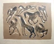 Septiņi zirgi 2004, papīrs/litogrāfija, 22,5x31