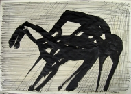 The Horse Code 2007, Indian ink on paper, 60x83