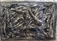 The Running VI 2007, charcoal on paper, 60x83