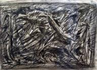 Skrējiens VI 2007, papīrs/ogle, 60x83