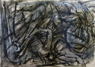 The Running IV 2007, acrycic, charcoal on paper, 60x83