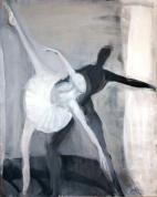 Baltais un melnais 2009, audekls/eļļa, 150x120