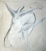 White Ballerina 2009, oil on canvas, 220x200