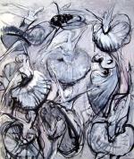 Ballerinas 2009, oil on canvas, 240x200