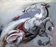 Zirga savaldīšana I 2008, audekls/eļļa, 100x120