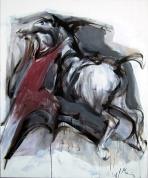 Zirga savaldīšana II 2009, audekls/eļļa, 120x100