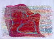 Sieviete - Meksika 2006, papīrs/kr.zīmuļi, tuša, 58x76