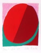 Roze 2004, papīrs/litogrāfija, 23x18