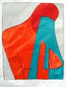 Tears over Chest 1998, lithograpy on paper, 54x41