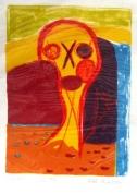 Saulriets 2000, papīrs/litogrāfija, 46x32,5