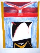 Gulbju vērotāja 2006, papīrs/litogrāfija, 67x52