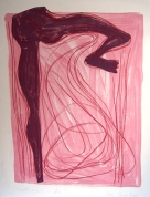 The Rised Leg 2005, lithography on paper, 86x62