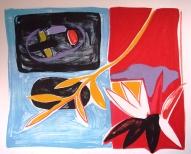Pie ezera 2006, papīrs/litogrāfija, 53x62