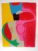 Kaķvarde 2003, papīrs/litogrāfija, 70x51