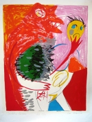 The Beauty and the Beast 2001, lithography on paper, 71x52