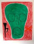 Zaļais 2001, papīrs/litogrāfija, 66x49