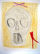 Baltais 2001, papīrs/litogrāfija, 66x49