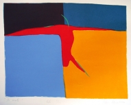To the Coast 2003, lithography on paper, 56x68