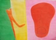 Garām. Sarkanais 2003, papīrs/akvarelis, 67x90