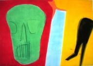 Garām. Zaļais 2003, papīrs/akvarelis, 67x100