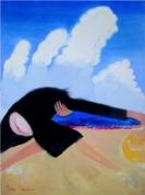 Cepures ķērājs 2010, audekls/eļļa, 198x145