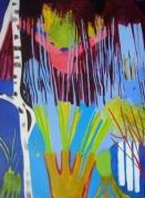 Purvā skrienošā 2010, audekls/eļļa, 198x145