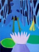 Ūdensroze un stirna 2010, audekls/eļļa, 60x80