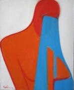 Asaras pār krūtīm 1998, audekls/eļļa, 73x60