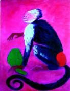 The Monkey and The Artichoke 2009, oil on canvas, 130x100
